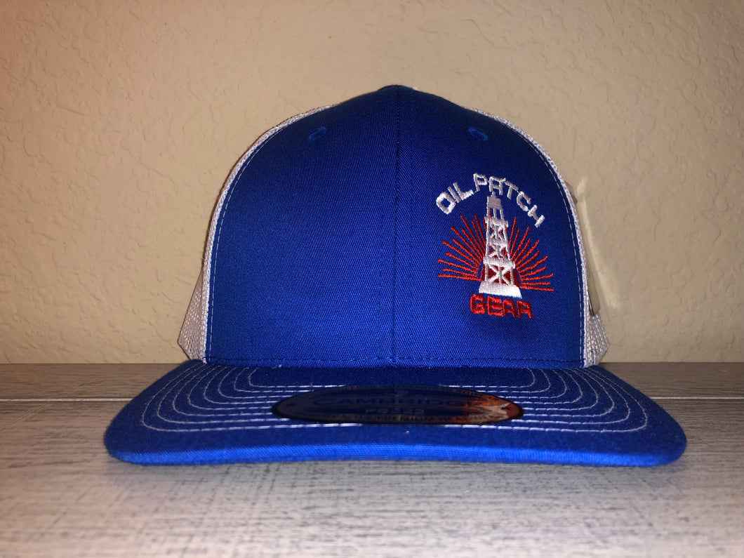 OPG CAP LG2 -  ROYAL BLUE TRUCKER CAP WITH WHITE MESH