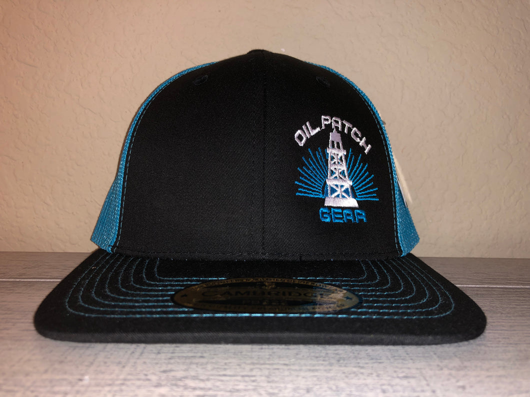 OPG CAP LG2 -  BLACK TRUCKER CAP WITH TEAL MESH