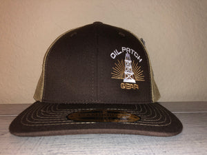 OPG CAP LG2 - BROWN TRUCKER CAP WITH TAN MESH
