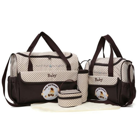 Premium 5-Piece Baby Diaper Bag Set