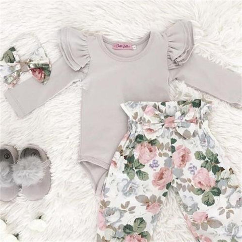 Spring Floral Newborn Set 3 pieces
