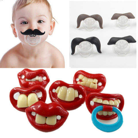 Funny Lips and Mustache Binky