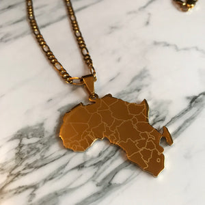 Africa Map Pendent Necklace