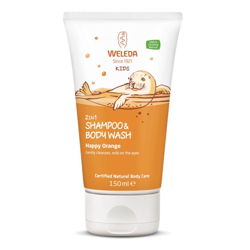 The Clean Hub: Kids 2 in 1 Shampoo and Body Wash in Happy Orange by Weleda