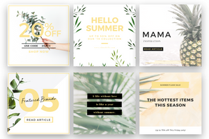Tropical Instagram Design Bundle | Instagram Design Templates - Social Sales Shop