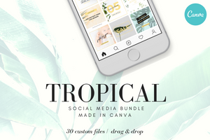Tropical Instagram Design Bundle