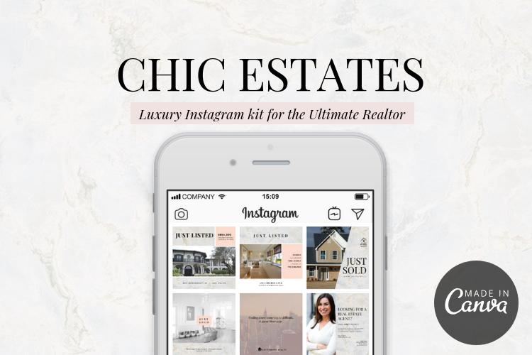 Chic Estates Instagram Design Templates