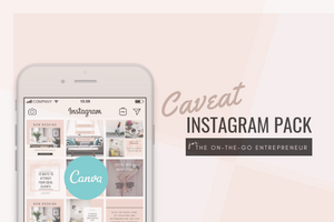 Caveat Instagram Design Templates