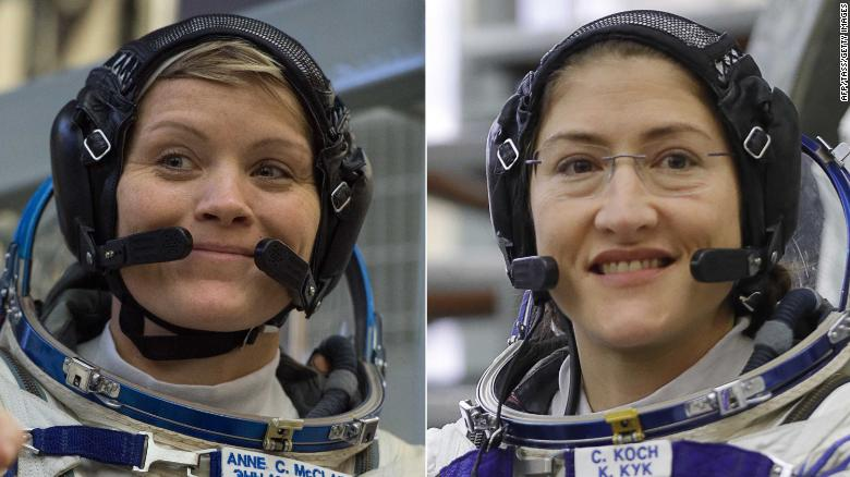 2 astronauts are scheduled for the first all-female spacewalk in history