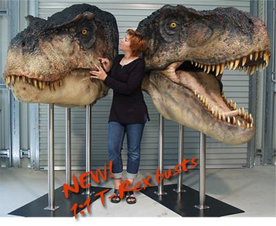 T-REX (closed jaw) - Life-size Collectible Statue
