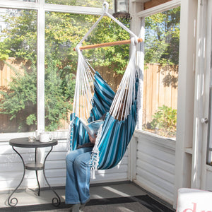 Brazilian Hammock Chair - Blue Lagoon