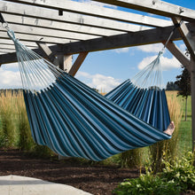 Load image into Gallery viewer, Brazilian Deluxe Double Hammock - Blue Lagoon