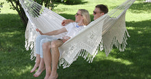 Load image into Gallery viewer, Brazilian Deluxe Double Hammock Natural