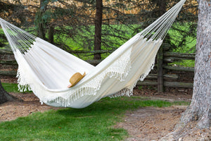 Brazilian Deluxe Double Hammock Natural