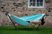 Load image into Gallery viewer, Combo - Double Polyester Hammock with Stand (9ft) - Aqua