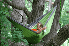 Load image into Gallery viewer, Nylon Parachute Camping Hammock Storm/Apple