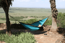 Load image into Gallery viewer, Nylon Parachute Camping Hammock Chocolate/Turquoise
