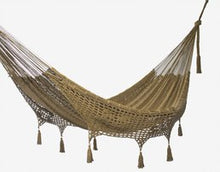 Load image into Gallery viewer, Deluxe Outdoor Cotton Hammock Queen Cedar