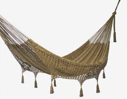 Deluxe Outdoor Cotton Hammock Queen Cedar