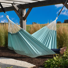 Load image into Gallery viewer, Double Brazilian Polyester Hammock in Aqua