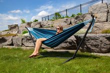 Load image into Gallery viewer, Universal Hammock Stand with Double Hammock Blue Lagoon