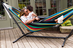 Universal Hammock Stand with Double Hammock Rio