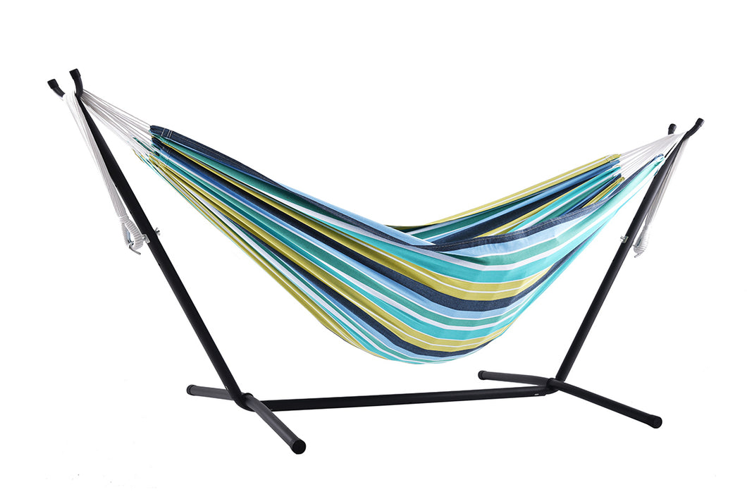 Universal Hammock Stand with Double Hammock Cayo Reef