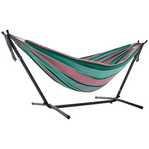 Universal Hammock Stand with Double Hammock Watermelon