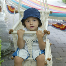 Load image into Gallery viewer, Baby Swing Chair Cream