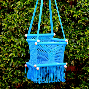 Baby Swing Chair Turquoise Blue