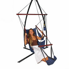 Load image into Gallery viewer, All Weather Canvas Hammock Chair Navy