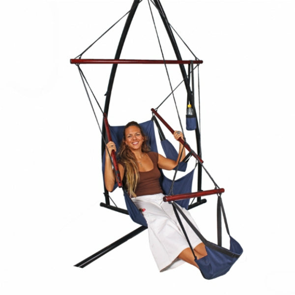 All Weather Canvas Hammock Chair Navy