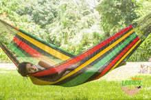 Load image into Gallery viewer, Cotton Hammock Queen Rasta