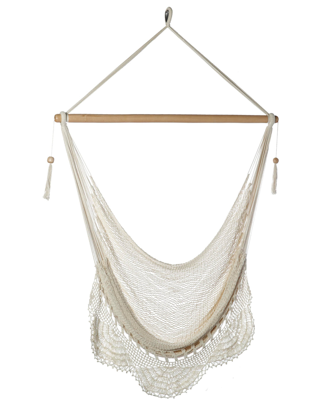 Large Hammock Chair with Crochet