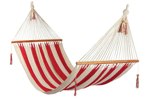 Large hammock Red/White stripes, no crochet