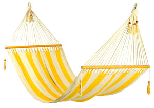 Large hammock Yellow/White stripes, no crochet