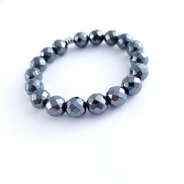 Faceted Hematite