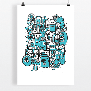 Bunch of Weirdos Illustration Art Print by Dutch Freelance Illustrator Michiel Nagtegaal - View 2 of 9