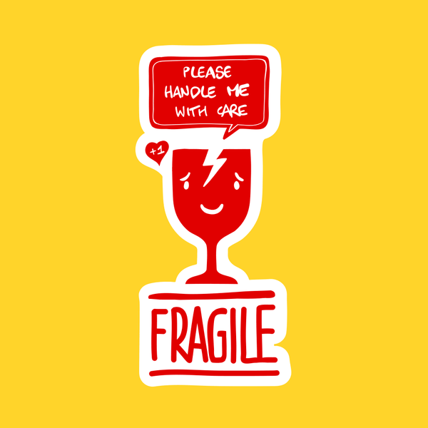 Fragile - Handle with care - Illustration Art Print on MrUpside webshop