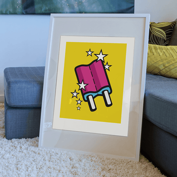 Ice-cream 'Popsicle' - Illustration Art Print on MrUpside webshop
