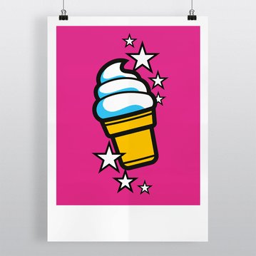Ice-cream 'Soft' - Illustration Art Print on MrUpside webshop