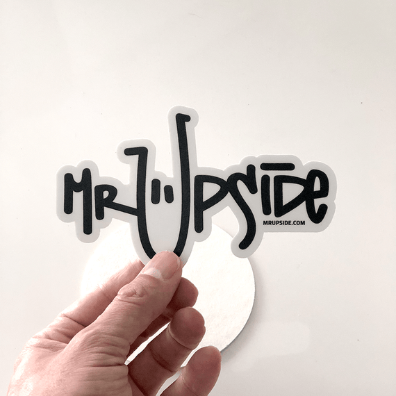 Mr. Upside logo - Illustration Art Print on MrUpside webshop
