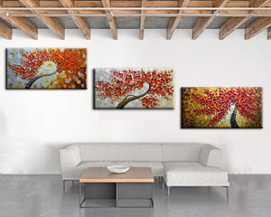 Large Flower Oil Painting on Canvas Abstract Art Decorating Your Home
