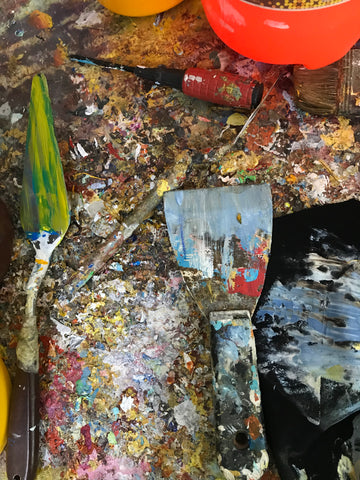 Asdam Art Artists Use Palette Knife Paint Brush