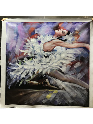Canvas Artwork Beautiful Ballet Lady