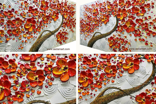 flower oil painting-canvas art for sale-cheap canvas artwork