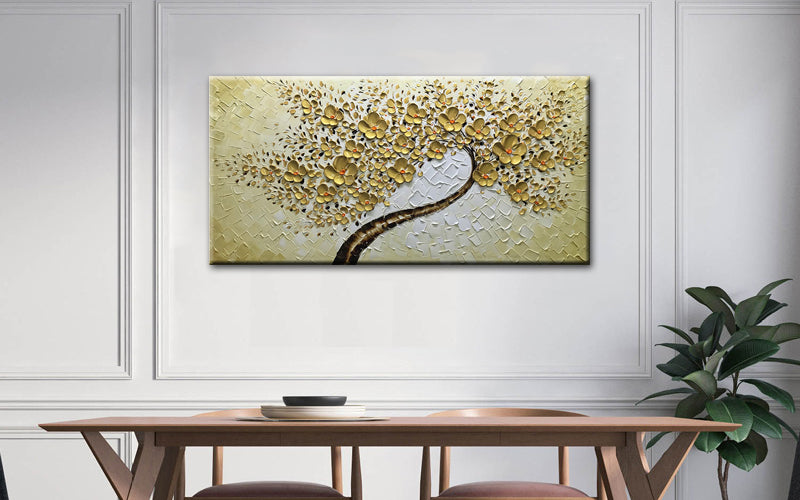 gold canvas wall art-oil painting-paintings for sale-(1)