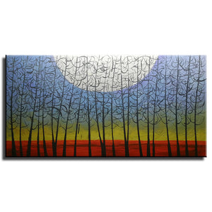 20*40inch Save $7 ($51.99 on Amazon) Handmade Painting Abstract Forest Framed Ready to Hang (Only for US)