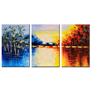 16*24inch*3 Save $29 ( $82.99 on Amazon) Acrylic Oil Painting Framed Ready to Hang (Only for US)