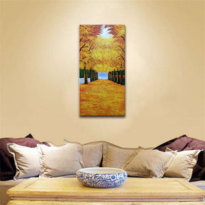 24*48inch Save $26 ($75.99 on Amazon) Hand Painted Paintings Framed Ready to Hang (Only for US)